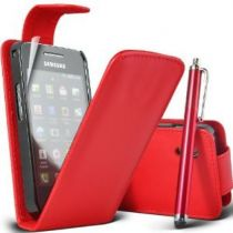 Flip Case Samsung - FLIP CASE Samsung S5830 Galaxy Ace rosso