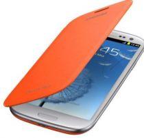 Comprar Acessórios Galaxy S3 - Capa tipo livro Galaxy S3 Samsung Flip Cover EFC-1G6F Laranja