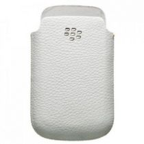 Custodie Blackberry - Custodia Pelle Blackberry HDW-31343-002 Bianca Torch 9800