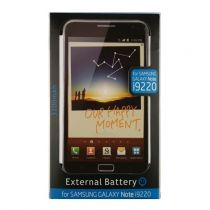 Accessori Galaxy Note N7000/N7100 - External Batteria Samsung Note Nero 3200mah + Flipcase