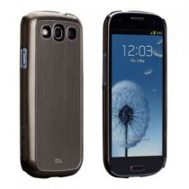 Accessori Galaxy S3 - case-mate Barely There Brushed Aluminium Argento Galaxy S3