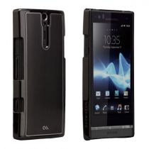 Cover - case-mate Barely There Brushed Aluminium Nero Sony Xperia S
