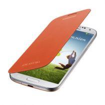 Accessori Galaxy S4 i9500 - Flip Case Samsung Galaxy S4 Orange   EF-FI950BOEG