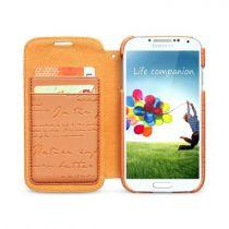 Accessori Galaxy S4 i9500 - Zenus Masstige Lettering Diary per Samsung S4 i9500 orange