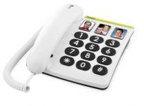 Telefoni fissi analogici - Telefono Doro PhoneEasy 331 PH Bianco