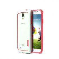 Accessori Galaxy S4 i9500 - Walnutt by Zenus Bumper Solid Samsung Galaxy S4 Bianco / Pin