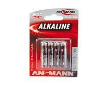 Batterie - Batterie 1x4 Ansmann Alkaline Micro AAA red-line