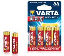 Batterie - Batterie 1x4 Varta Max Tech Mignon AA LR6