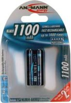 Batterie ricaricabili - Batteria ricaricab. 1x2 Ansmann NiMH 1100 Micro AAA 1050 mAh