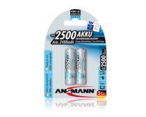 Revenda Pilhas Recarregáveis - Pilha Recarreg. 1x2 Ansmann maxE NiMH 2500 Mignon AA 2400 mA