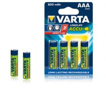 Batterie ricaricabili - Batteria ricaricab. 1x4 Varta AAA Ready2Use NiMH 800 mAH Mic