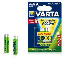 Batterie ricaricabili - Batteria ricaricab. 1x2 Varta AAA NiMH 1000 mAh Micro