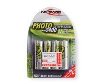 Batterie ricaricabili - Batteria ricaricab. 1x4 Ansmann NiMH Mignon AA 2400 mAh PHOT