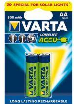 Batterie ricaricabili - Batteria ricaricab. 1x2 Varta Solar AA NiMH 800 mAh Mignon