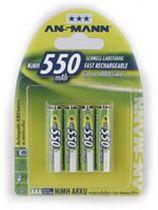 Batterie ricaricabili - Batteria ricaricab. 1x4 Ansmann maxE NiMH Micro AAA 550 mAh
