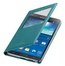 Accessori Galaxy Note 3  - Samsung EF-CN900BLEG S-View Cover Galaxy Note 3 Mint Blue