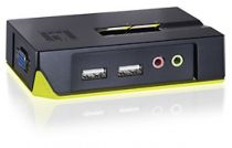 KVM - LEVEL ONE 2-PORTS USB KVM SWITCH W/AUDIO(INCL