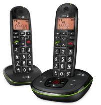 Comprar Telefones DECT sem Fios - Telefone sem fio Doro PhoneEasy 105WR Duo preto