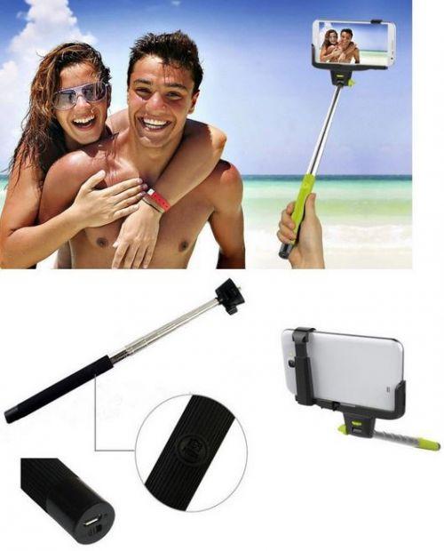 - SUPORTE EXTENSIVEL SELFIE SMARTPHONES C/BLUETOOTH PRETO Fotografias