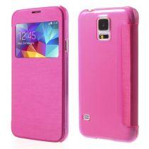Accessori Galaxy S5 G900 - Custodie Flip Case janela Samsung Galaxy S5 G900 rosa