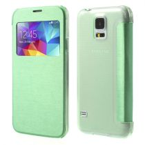 Accessori Galaxy S5 G900 - Custodie Flip Case janela Samsung Galaxy S5 G900 verde