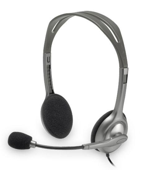 Auscultadores Logitech H110 Stereo Auscultadores silver retail
