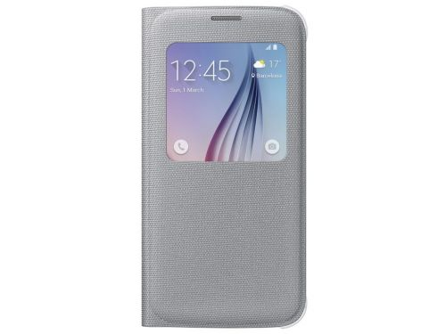 achat Accéssoires Samsung Galaxy S6  - Samsung S-View Cover Fabric Argent Galaxy S6
