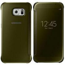 Comprar Acessórios Galaxy S6  - Capa Samsung Clear View Cover Gold Galaxy S6