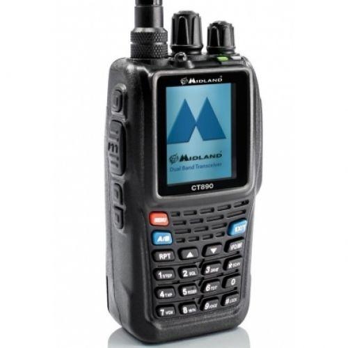 Rádio portátil VHF/UHF MIDLAND CT-890PLUS