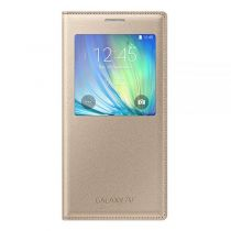 Accessori Galaxy A7 - Samsung S-View Cover EF-CA700 Galaxy A7, Gold