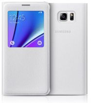Accessori Galaxy Note 5  - Samsung S View Cover Note 5 Bianco EF-CN920PWEGWW