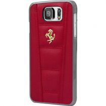 Accessori Galaxy S6  - Ferrari Hard Case Rossa Galaxy S6 - Pelle