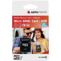 Micro SD / TransFlash - AgfaPhoto Mobile High Speed  4GB MicroSDHC Class 10 (+ Adapt