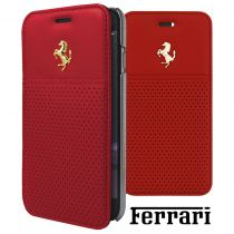 Custodie Ferrari - Book Case Ferrari per Apple iPhone 6, 6s Red