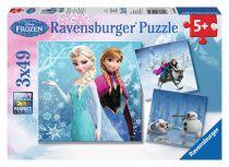Revenda Brinquedos Ar Livre - Puzzle Ravensburger Winter Adventures 3 X 49 pcs Disney Frozen