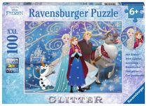 Revenda Brinquedos Ar Livre - Puzzle Ravensburger Disney Frozen Glittery Snow 100 pcs XXL