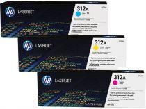 Toner stampanti HP - HP TONER Giallo/AZUL/MAGENTA  312A