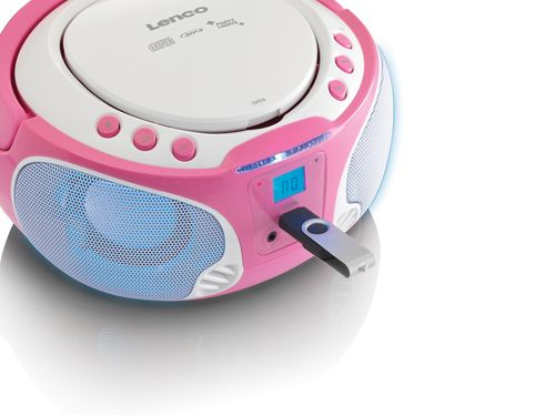 Radio CD Lenco SCD-650 pink