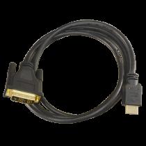 Revenda Cabos - Cabo DVI a HDMI DVI18+1/M-HDMI A/M Comprimento 1,8 m