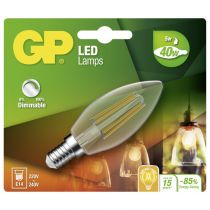 Lampade LED - GP Lighting Filament Candle E14 D 5W (40W) dimmable 470 lm