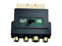 Comprar Cabos e Adaptadores - in-akustik Premium Scart Adaptador S-VHS/RCA IN+OUT