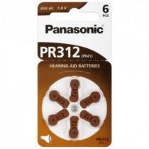 Revenda Pilhas - Panasonic PR 312 Zinc Air 6 pcs. Hearing Aid Cells