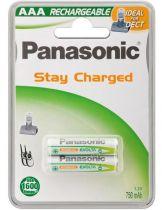 Revenda Pilhas Recarregáveis - Pilha recarregável 1x2 Panasonic NiMH Micro AAA 750 mAh Ready para Use