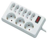 Adattatori rete - REV Socket line    9-fold 1,4 m + switch   Bianco