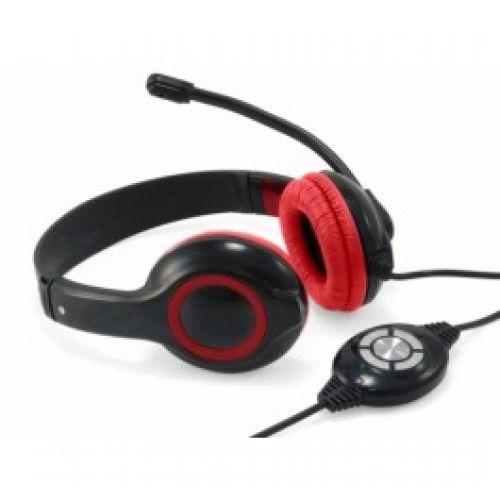 Comprar  - Conceptronic USB Auscultadores - Preto e vermelho