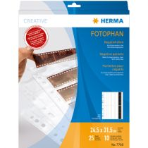 Revenda Arquivos Fotografia - Herma Negative pockets PP clear 25 Sheets/4-Strips 7760