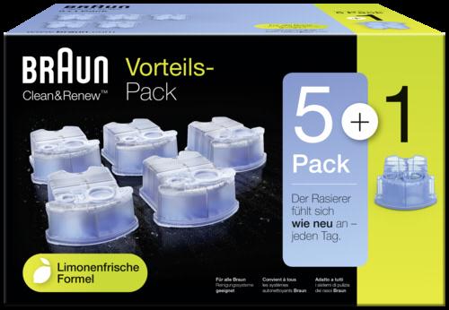 Braun CCR 5+1 Clean & Renew Cartridges