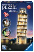Revenda Brinquedos Ar Livre - Ravensburger 3D Puzzle-Bauwer Pisaturm bei Nacht