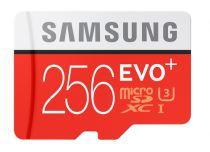 Revenda Micro SD / TransFlash - Samsung microSDXC EVO+ 256GB + Adaptador MB-MC256GA/EU Cartão Memória