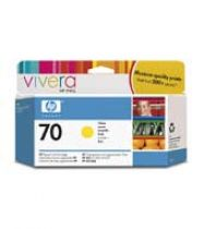 Cartucce stampanti HP - HP 70 130 ml Yellow Ink Cartridge with Vivera Ink